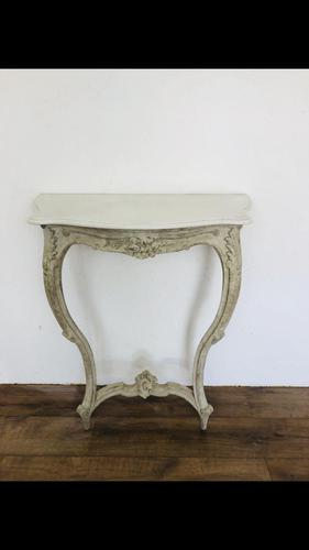 Marble console table (1 of 3)
