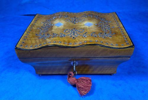 Georgian  French Cut Steel Mounted Satinwood Box (1 of 16)