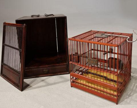 Most Unusual 1920's Hardwood & Lacquered Bird Cage (1 of 9)