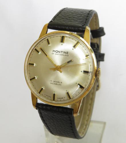 Gents 1970s Montine wrist watch (1 of 4)