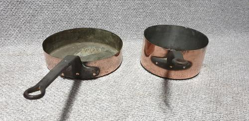 Two Large Copper Pans (1 of 4)