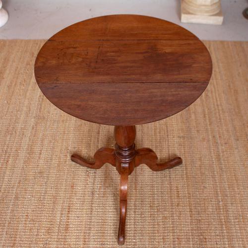 Drop Leaf Tripod Table 19th Century Mahogany (1 of 9)