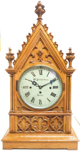 Antique English Fusee Bracket Clock by W Potts & Son Leeds 8 Day Fusee Timepiece Mantel Clock (1 of 14)