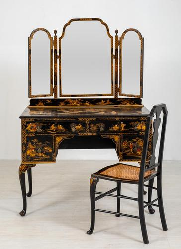 Queen Anne Style Chinoiserie Dressing Table & Chair (1 of 22)