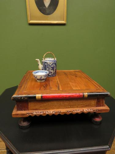Vintage Small Japanese Tea Table, Indian Bajot Table (1 of 12)