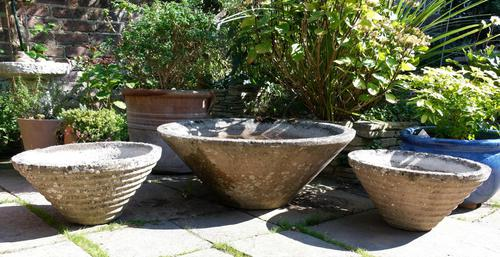 Set of the conical garden planters (1 of 9)