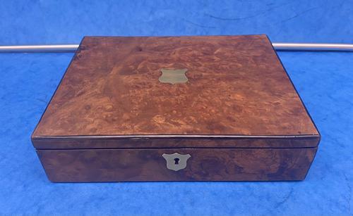 Victorian Burr Walnut Writing Box c.1870 (1 of 14)