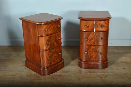 Antique Pair of Victorian Mahogany Bow Front Chests of Drawers (1 of 5)
