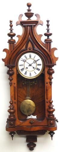 Wow! Antique German Spring Driven Striking 8-day Vienna Wall Clock by Peerless (1 of 12)