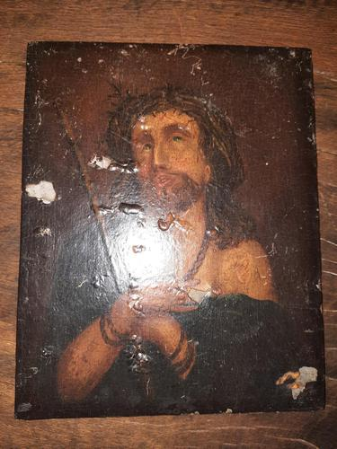 16th Century Northern European Oil on Board of Christ (1 of 11)