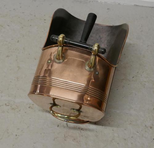 Superb Large Arts & Crafts Copper Helmet Coal Scuttle (1 of 7)