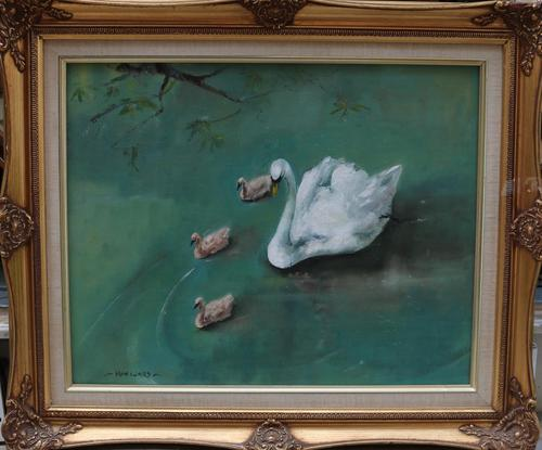 Swans on the River by Iain Ward (1 of 3)