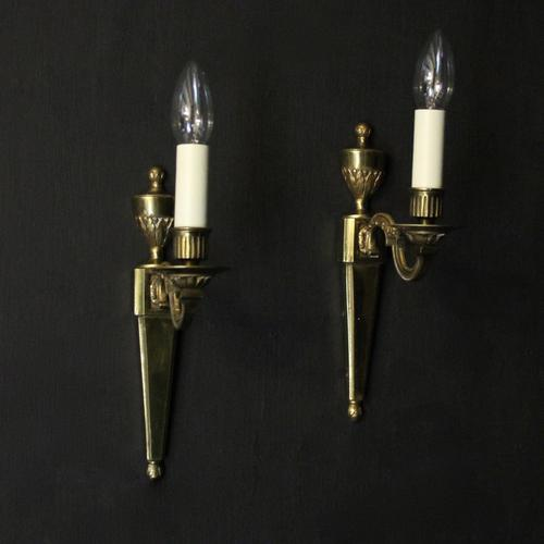 French Brass Single Arm Antique Wall Lights (1 of 7)