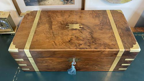 Victorian Brass-bound Walnut Writing Slope with Secret Drawers (1 of 39)