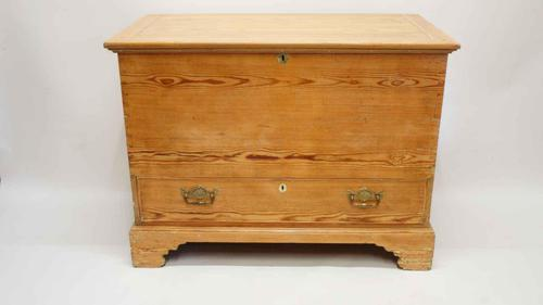 Georgian pine mule chest dated 1816 (1 of 12)
