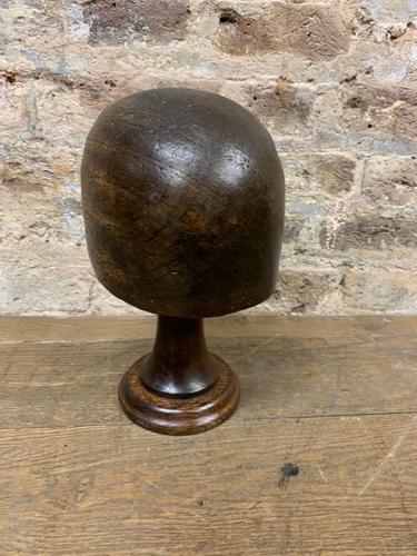 Dark Wooden Hat Block (1 of 4)