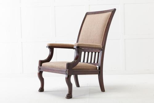 19th Century Mahogany Armchair (1 of 8)