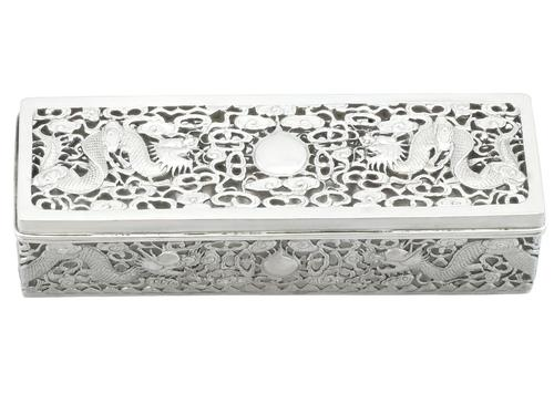 Chinese Export Silver Box - Antique c.1900 (1 of 9)