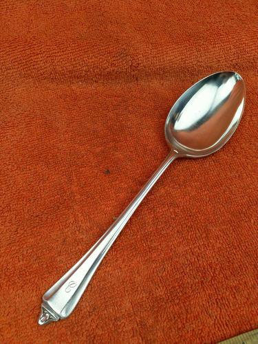 Sterling Silver Hallmarked 1941, Serving Spoon, Sheffield, A E Poston & Co Ltd. (1 of 8)