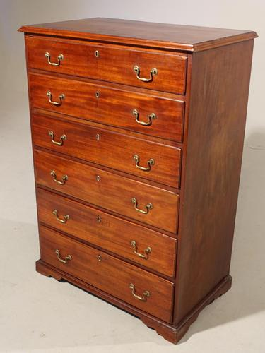 A Very Good Quality Late 19th Century 6 Height Mahogany Chest (1 of 3)