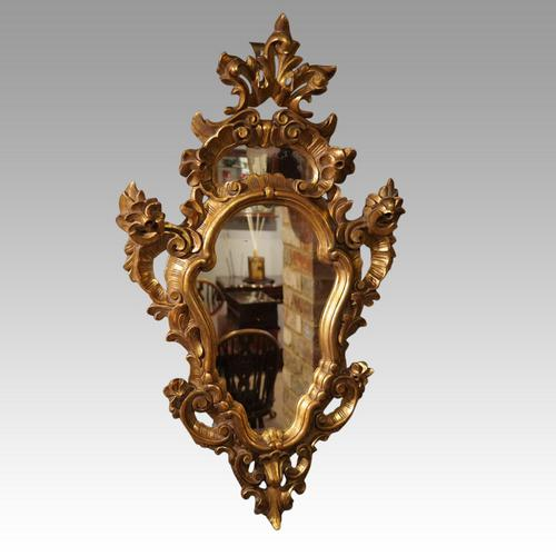 Antique Gilt Florentine Mirror (1 of 6)