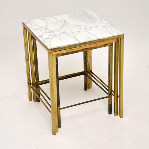 1950's Brass & Marble Nest of Tables (1 of 9)