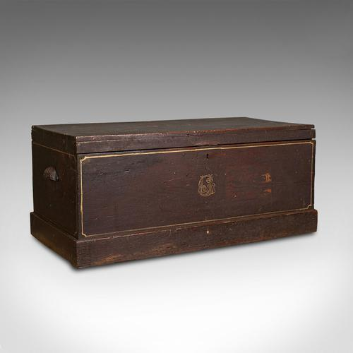 Antique Merchant's Tool Chest, English, Pine, Craftsman's Trunk, Victorian c.1900 (1 of 12)