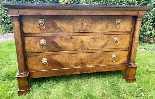 French Empire Commode in Figured Walnut (1 of 7)