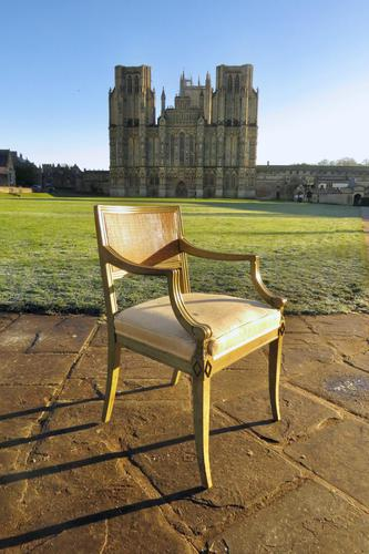 French Painted Regency Elbow Chair (1 of 9)