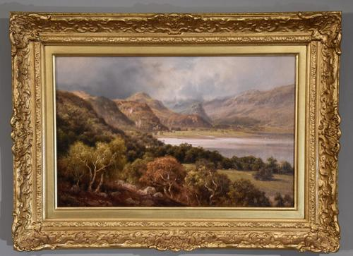 "Oil Painting by Edward Henry Holder ""Scene in the Lake District"" (1 of 5)"