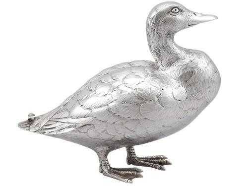 Sterling Silver Duck Ornament - Vintage Elizabeth II (1 of 9)