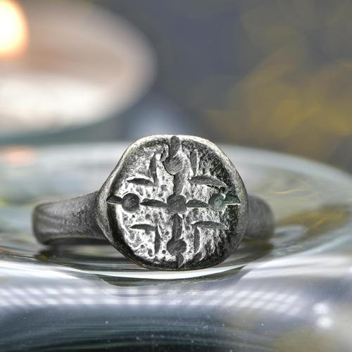 The Ancient Medieval Silver Cross Ring (1 of 4)