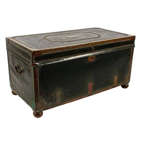 Georgian Leather Bound Campaign Trunk (1 of 8)