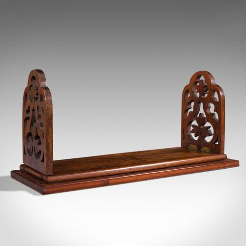 Antique Book Slide, English, Rosewood, Mahogany, Library Stand, Victorian c.1900 (1 of 12)