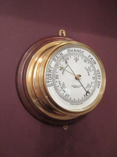 Antique  London Bulkhead Marine Barometer (1 of 7)