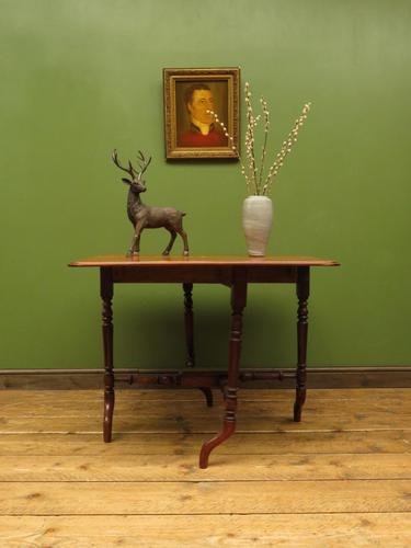 Antique 19th Century Sutherland Table, Drop Leaf Occasional Table for afternoon tea (1 of 17)