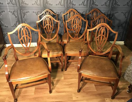 Quality Set of Eight Mahogany Dining Chairs (1 of 18)