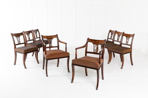 Set of Eight 19th Century Regency Mahogany Dining Chairs (1 of 11)