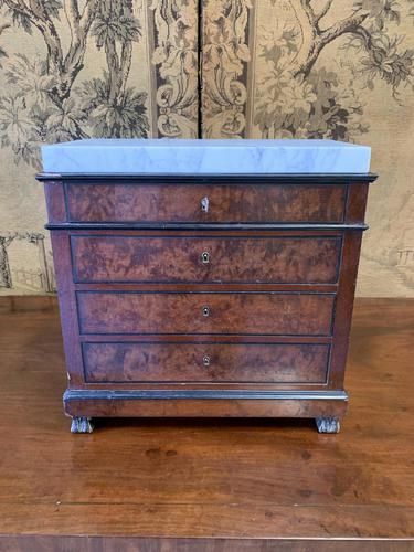 French 19th Century Apprentice Marble Top Commode (1 of 4)