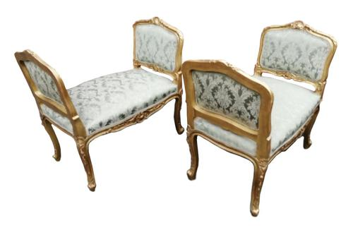Superb quality pair of 19th century French giltwood window seats (1 of 8)