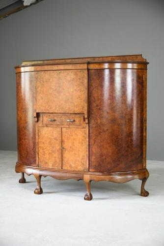 Early 20th Century Walnut Writing Cabinet (1 of 12)