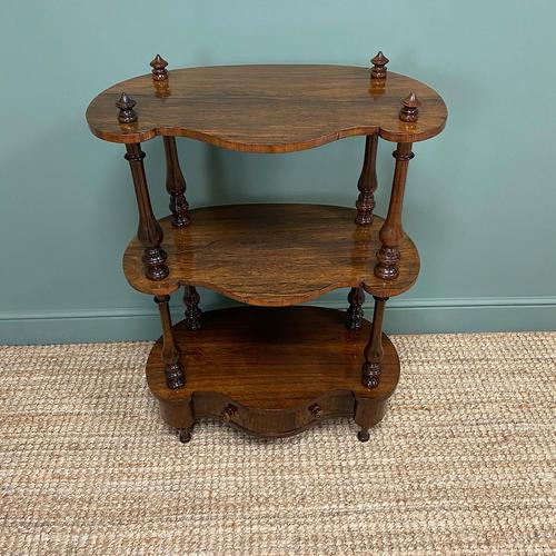 Quality Victorian Rosewood Antique Whatnot (1 of 9)