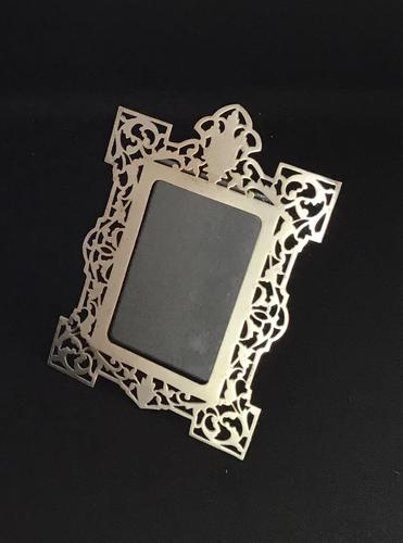 Reticulated Edwardian Silver Plated Easel Photo Frame (1 of 4)