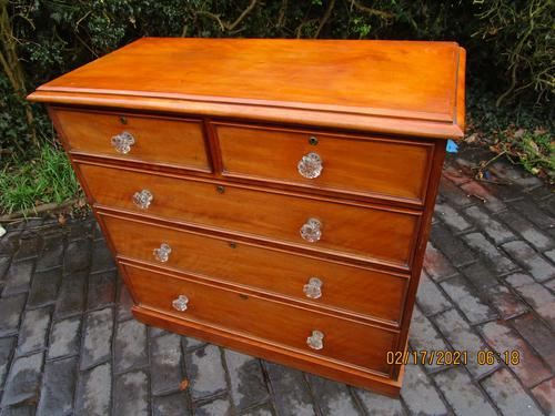 Satin Birch Chest of Drawers (1 of 6)