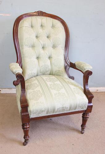 Antique Victorian Gentleman's Armchair (1 of 7)