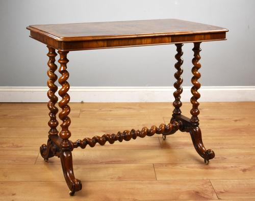 19th Century Victorian Burr Walnut Centre Table (1 of 10)