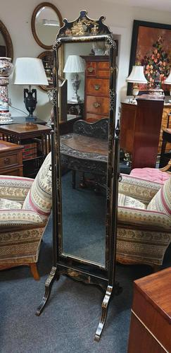 Good Chinoiserie  Cheval Mirror (1 of 10)