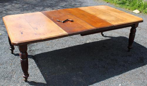 1920's Mahogany Dining Table with 2 x Leaves and Handle (1 of 6)