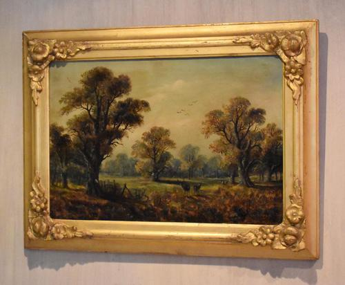 Victorian Oil Painting of Charlecote Park (1 of 9)