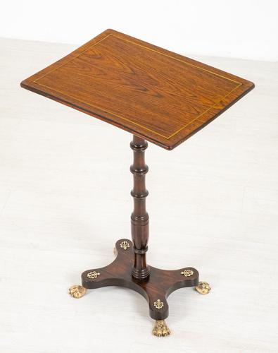 Very Pretty Regency Rosewood Occasional Table (1 of 8)